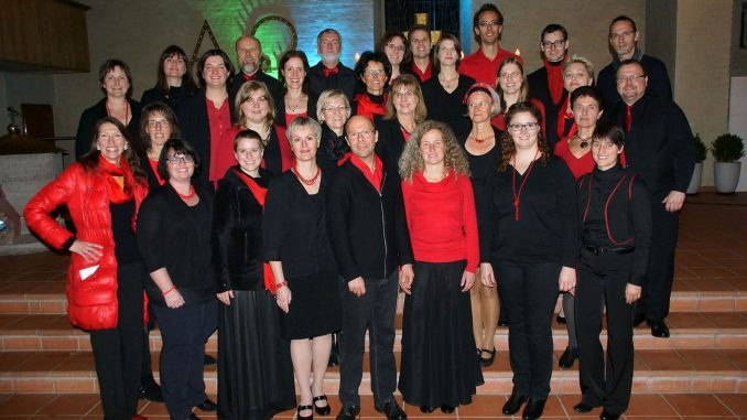 Gruppenbild des Thalia Chor Schweinfurt beim Gemeinschaftskonzert mit den Flames of Gospel in Bamberg | November 2016
