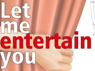 "Ausschnitt Konzertplakat ""Let me Entertain you"""
