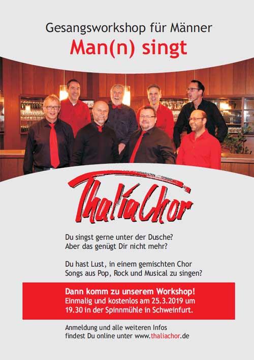 Flyer - Gesangsworkshop für Männer