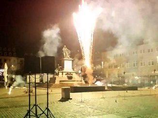 Feuerwerk bei der Nacht der Kultur